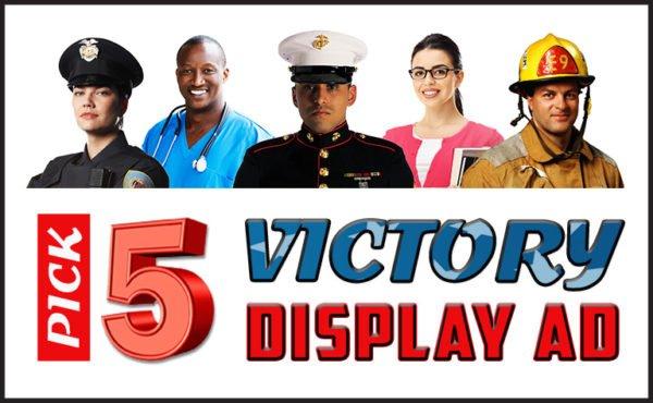 3. Pick 5 Victory Display Ad Package