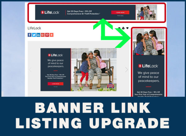 XL Listing Upgrade with Banner Link